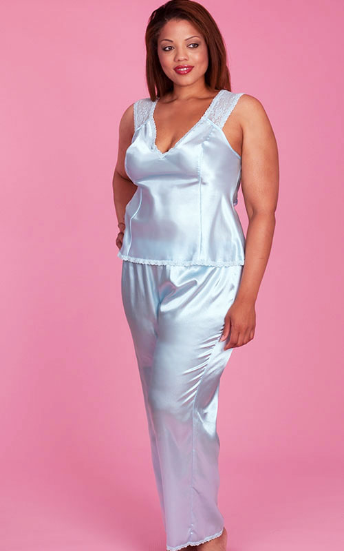 Plus Size Pajamas | Lisbeth Satin Pajamas