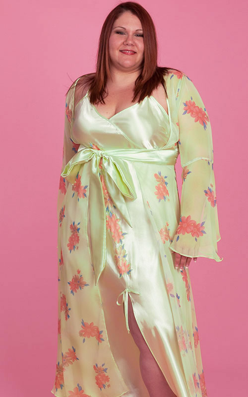 Plus Size Lingerie | Susan Gown and Robe Set