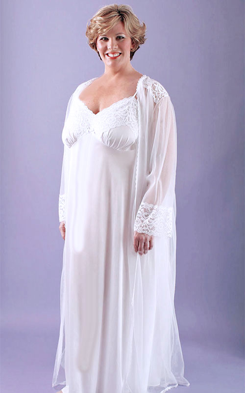 c157403a5a4 Our Romantic Bridal Nightgown PeignoirNightgowns For Brides
