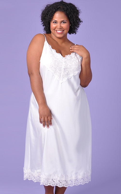 Plus Size Nightgown | Angelic White Bridal Nightgown