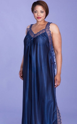 Nice in Navy Nightgown