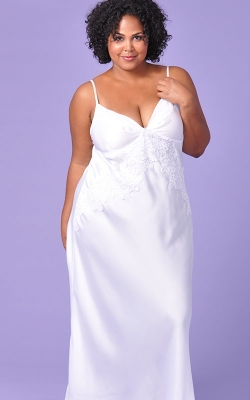 Extravagance in White Bridal Nightgown