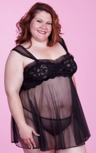 My Favorite in Black Babydoll Set