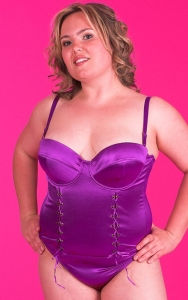 Purple Chic Bustier Set