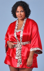 On the Wildside Babydoll Robe Set