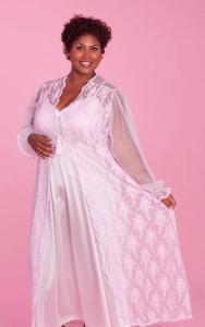 Whisper Pink Nightgown Peignoir Set