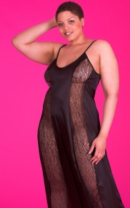 Black Flirty Lace Nightgown