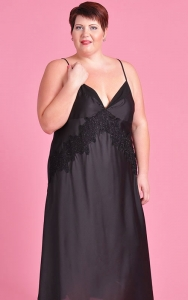 Extravagance in Black Nightgown