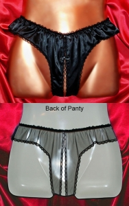 Our Black Crotchless Panties