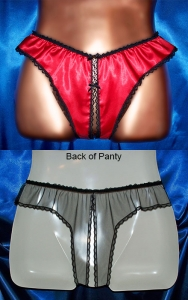 Our Red Hot Crotchless Panties