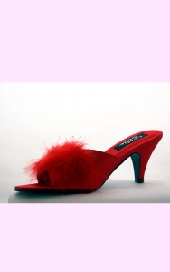 Red Satin Starlet Slippers