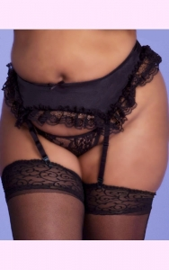 Satin & Lace Garter Belt